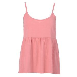 ⭐️2 for $20⭐️BNWOT Pink peplum ribbed camisole